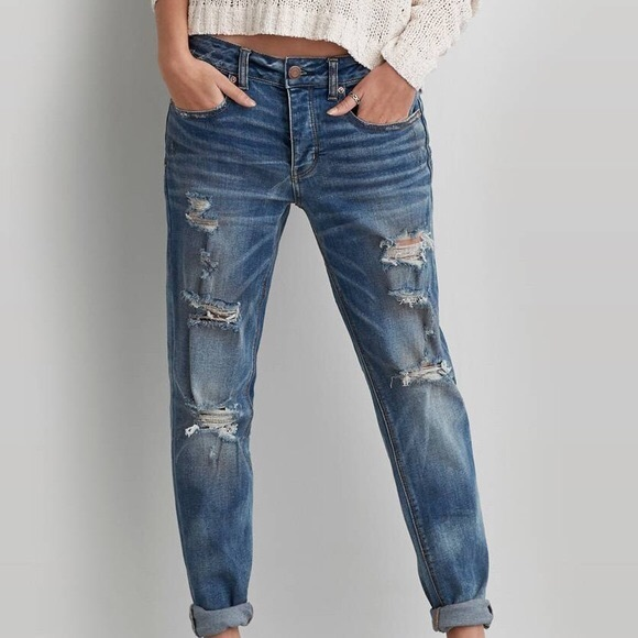 American Eagle Outfitters Denim - American Eagle Boy Crop Jean High Rise